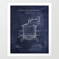 Patent Design for a Brew Kettle Art Print