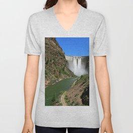 Morrow Point Dam Unisex V-Neck