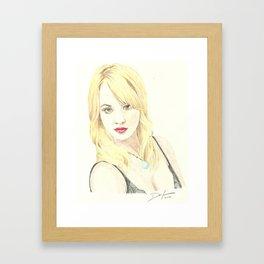 Kaley Cuoco Framed Art Print