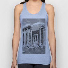 Euromos Ruins Black and White Photography Unisex Tank Top