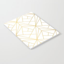 Golden Diagonal lines Pattern Notebook