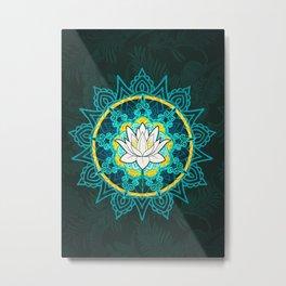 Lotus Flower Mandala Metal Print