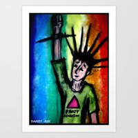 queer Art Prints featuring Queer Punk by Dandy Jon