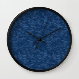 Blue Aqua Water Waves Vector Pattern Seamless Background Wall Clock