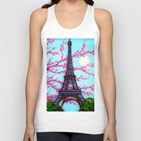 eiffel tower Tank Tops featuring Eiffel Tower by ArtLovePassion