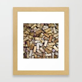 Fine Wine Corks Square Framed Art Print