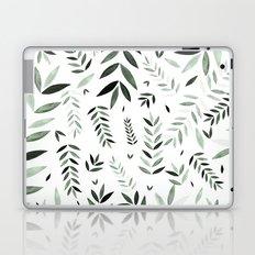 green leaf pattern Laptop & iPad Skin