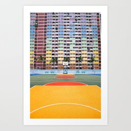 Hong Kong  - Popping colors 2 Art Print