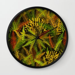 Fern Forest in Rustica Wall Clock