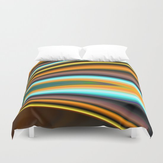 Abstract Fractal Colorways 01BR Duvet Cover