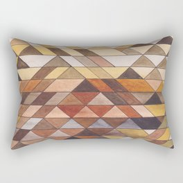Triangle Pattern Fall Colors Rectangular Pillow