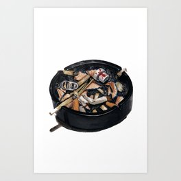 writer's ashtray Art Print