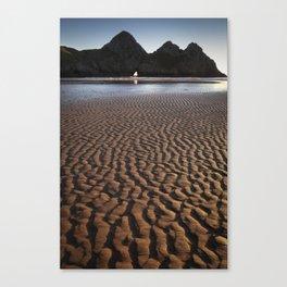 Three Cliffs Bay Gower Canvas Print