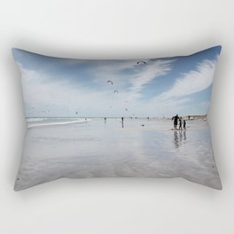Windy days on the beach- travel photography- Cape Town Rectangular Pillow