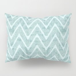 Palest Sea Green Zigzag Imitation Terrycloth Pillow Sham