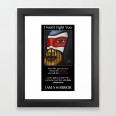 Compassion Warrior Framed Art Print