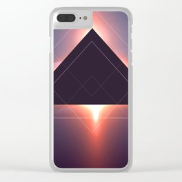 Triangle Abstract Sunset Clear iPhone Case