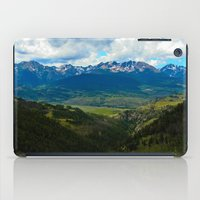 gore iPad Cases featuring Gore Range with ranches below by Calm Cradle Photo & Design