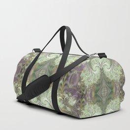 Floral fractal symmetry Duffle Bag