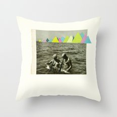 Holiday in the Mountains Throw Pillow
