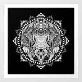 Elephant Medallion Art Print