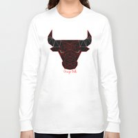 chicago bulls Long Sleeve T-shirts featuring Chicago Bulls by latiife