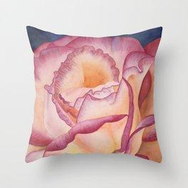 Magenta Rose Throw Pillow