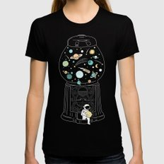 My Childhood Universe 2 LARGE Womens Fitted Tee Black