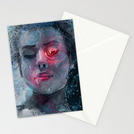 portrait in the dark Stationery Cards