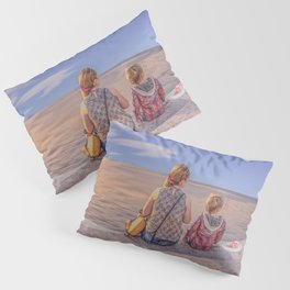 Waiting. Mother and child Pillow Sham