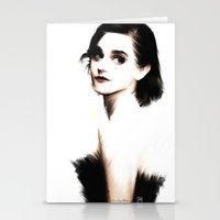 emma watson Stationery Cards featuring EMMA by André Joseph Martin