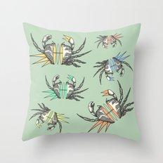 grab my crabs Throw Pillow
