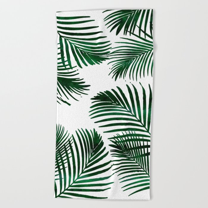 Tropical Palm Leaf Beach Towel