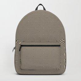 Pantone Hazelnut Multi Square Pattern Backpack