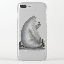 Giant Bear Clear iPhone Case