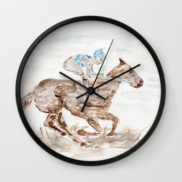 Race Horse, Derby, Kentucky, Wall Clock