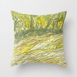 Eno River 34 Throw Pillow