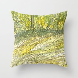 Eno River 34 Throw Pillow