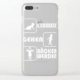 "A Perfect German Tee For Beaker To Be Saying ""Krabbeln Gehen Backer Warden"" T-shirt Design Baking Clear iPhone Case"