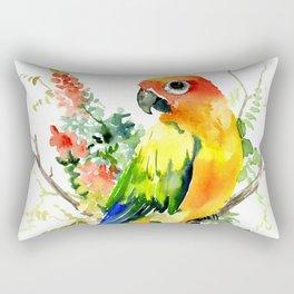 Sun Conure Parakeet Rectangular Pillow
