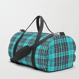 Lunchbox Blue Plaid Duffle Bag