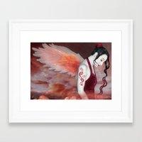earthbound Framed Art Prints featuring Earthbound Angel - Self Portrait by Jaeda DeWalt