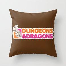 D&D All Nighter Throw Pillow