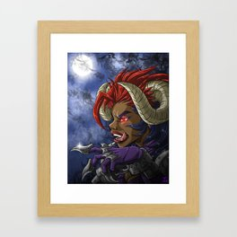 Dangel grin Framed Art Print
