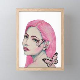 Pink Butterfly Soul Framed Mini Art Print
