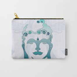 Buddha Head turquoise II Carry-All Pouch