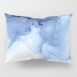 Blue Abstract Painting, Windmill Photography Pillow Sham