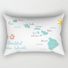 The Hawaiian Islands Rectangular Pillow