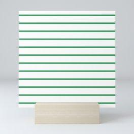 Kelly Green Breton Stripes Mini Art Print