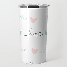 Love pink mint Travel Mug